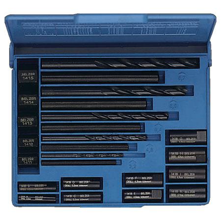 Extractor set -20 pce stud extractor set, vanadium extra