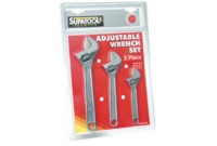 Supatool Adjustable  Wrench Set 3 Piece